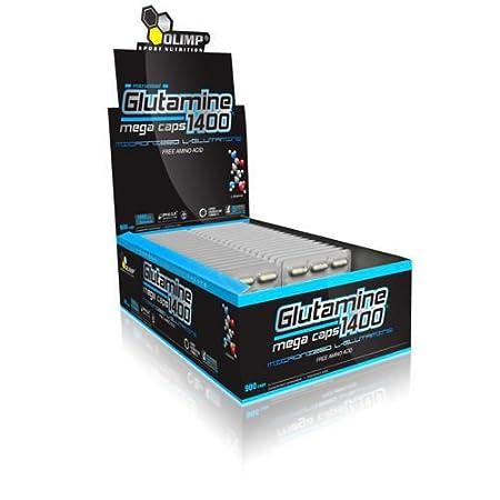 Olimp L-Glutamine Mega Caps 1400mg Aminosäuren L-Glutamin Glutamin (300 Kapseln (10 Blistern))