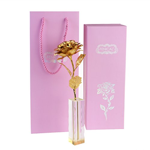 Rose 24K Gold Foil Valentine Flower Gift