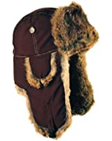 Mad Bomber Supplex Bomber Hat with Brown Fur