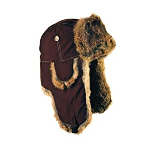 Mad Bomber Supplex Bomber Hat with Brown Fur, Chocolate, Small