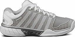 K-Swiss Women\'s Hypercourt Express Tennis Shoe-7 B(M) US-Glacier Grey/White