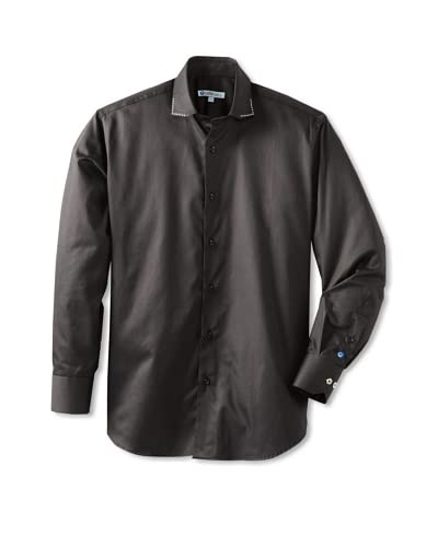 Cafébleu Men's Bogart Solid Long Sleeve Sportshirt  [Black]