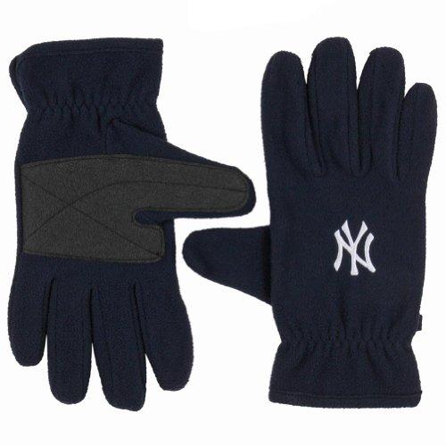 New York Yankees - Logo Fleece Gloves Dark Blue