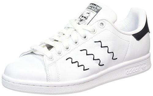 adidas Stan Smith, Damen Sneakers, Weiß (Ftwr White/Ftwr White/Core Black), 40 EU (6.5 Damen UK)