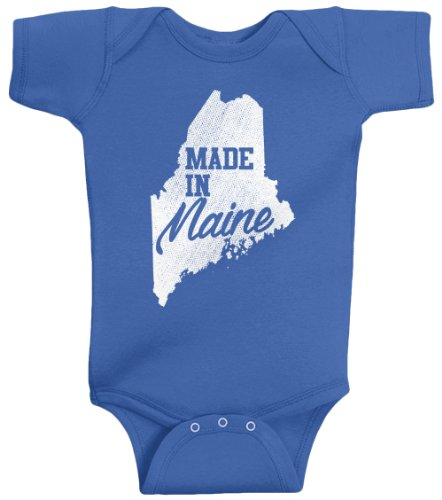 Threadrock Unisex Baby Made In Maine Bodysuit 6M Royal Blue (Made In Maine compare prices)