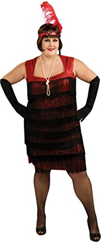 Rubies Womens Fancy Halloween Flapper Roaring Glamour Fringe Adults Costume