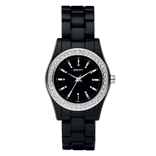 DKNY Black Plastic Ladies Watch NY8146