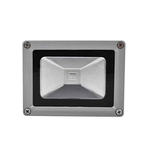 1 X LianLe 10W RGB LED Lumière crue avec télécommande IR, couleur étanche Charge lampe extérieure, AC 85-265V, 50 / 60Hz