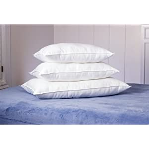 Dobby Stripe Pillows White Standard
