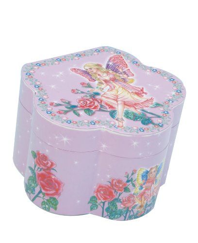 MusicBox Kingdom 22109 Musical Jewelry Box in Flower Shape, Playing