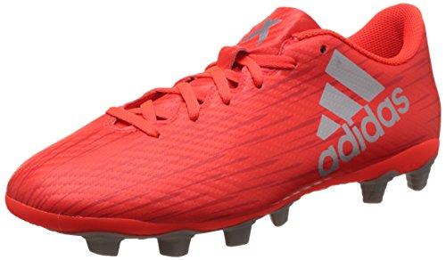 adidas X 16.4 Fxg, Scarpe da Calcio Uomo, Rosso (Solar Red/Silver Metallic/hi-Res Red), 43 1/3 EU