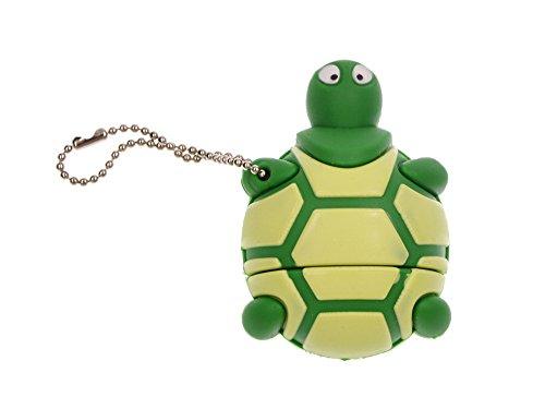 FEBNISCTE Cartoon 32GB USB 3.0 Flash Drive Green Sea Turtle 3.0 Memory Stick