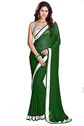 SRP Fashion Selection Women's Chiffon Saree (SRP-OF67, Green)
