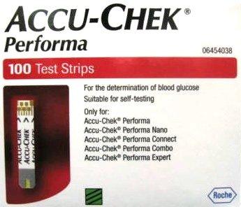 Accu-Chek Performa 100 Test Strips Expiry:31 DECEMBER 2016- Made In USA
