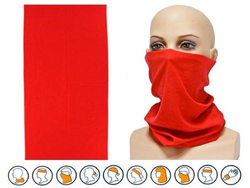Foulard fazzoletto da collo sciarpa funzionale multiuso scaldacollo tubolare leggero e morbido estate primavera autunno inverno loop anello ragazze colorati stola accessorio moderno lifestyle, multiscarf 1-20:rosso uni 20