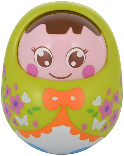 WonderKart Push And Shake Wobbling Durable Roly Poly Tumbler Doll With Soft & Sweet Bell Sounds - Green