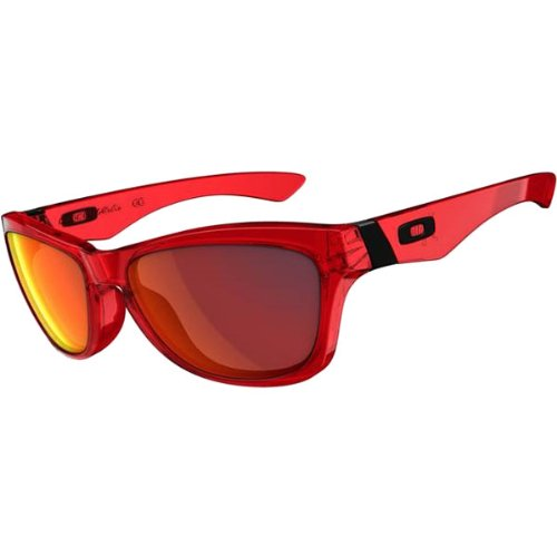 Oakley Jupiter Men's Casual Wear Sunglasses – Color: Crystal Red/Ruby Iridium