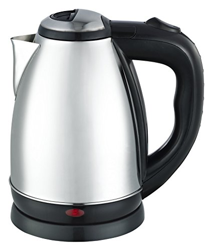 Stainless Electric Kettle ~ Maxware liter brushed stainless steel cordless