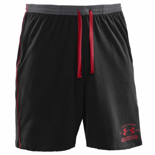 Charged Cotton Sweat Shorts Black/Red