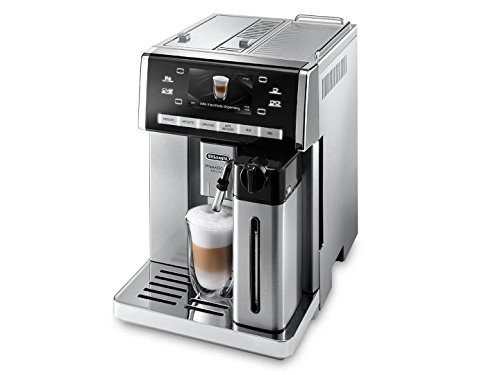 DeLonghi ESAM6900 PrimaDonna Exclusive Fully Automatic Espresso Coffee Machine with Auto Cappuccino Caffelatte Latte Macchiato Milk and Chocolate Buttons Made in Italy Stainless Steel (Kureg Coffee Expresso compare prices)