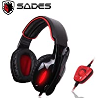 SADES SA-901 Stereo 7.1 Surround Pro Gaming Headset Headband Headphone Microphone PC Gaming Headset W Microphone...