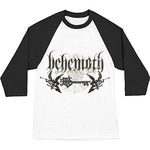 Behemoth Logo White Black Raglan Longsleeve T-Shirt