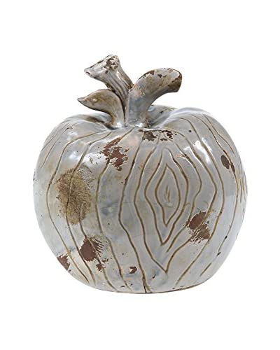 Privilege International Apple Finial Ceramic, Antique Blue
