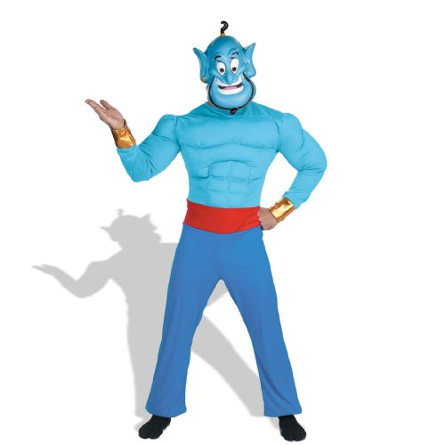 [Aladdin Disney Genie Muscle Adult Costume - Standard One-Size] (Jasmine And Aladdin Costumes)