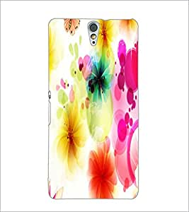 PrintDhaba Floral Pattern D-1107 Back Case Cover for SONY XPERIA C5 ULTRA (Multi-Coloured)