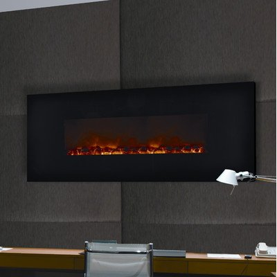 Dream Flame Wall Mount Linear Electric Fireplace Size: 58""