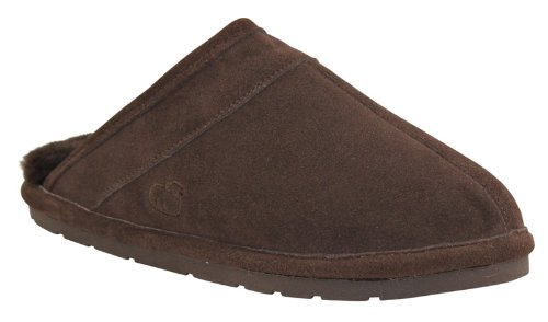Cheap Lamo M0003 Men's Scuff in Suede with Australian Sheepskin Lining Chest Brown Size X-Large (lamo M0003-CHNT XL)