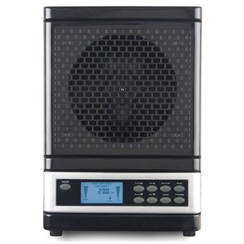 MicroLux ML4000D Series Home HEPA Ionic Ozone Generating Air Purifier - Black