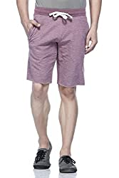 Tinted Men's Cotton Polyester Shorts TJ4201-MAROON-XL