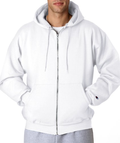 Champion 9 oz., 50/50 EcoSmart Full-Zip Hood - WHITE - S