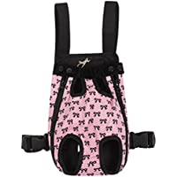 FakeFace Fashion Bowknots Pattern Pet Dog Doggy Sling Legs Out Design Outdoor Travel Durable Portable Front Chest...