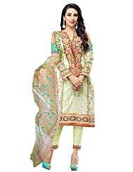 Desi Look Women's Green Cotton Dress Material With Dupatta - B019XSOVJA