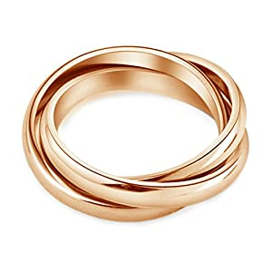 yoursfs 18k rose gold plated 3 in1 russian wedding ring