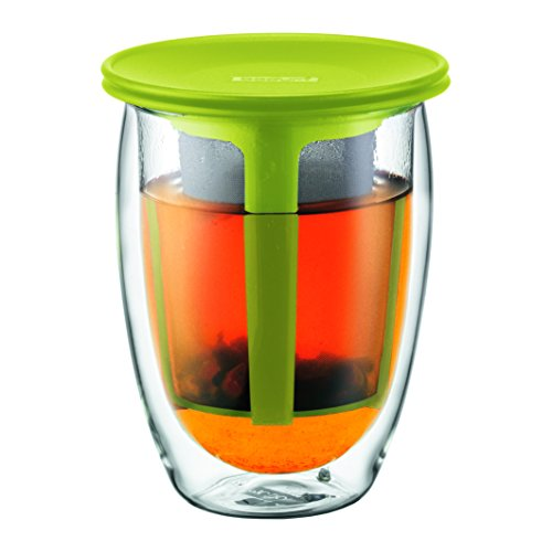 Bodum K11153-565 Tea For One Set Verre 0,35 L Filtre en Nylon Vert Citron