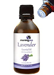 Morning Pep LAVENDER OIL 2 OZ 100 % Pure And Natural Therapeutic Grade , Undiluted PREMIUM QUALITY Aromatherapy LAVENDER Essential oil , Bottle designed to convenient release one drop at a time (59 ML) Happy with Your purchase or Your Money Back.