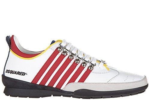 Dsquared2 Herrenschuhe Herren Leder Schuhe Sneakers 251 Weiß EU 45 W16SN131912M244 thumbnail