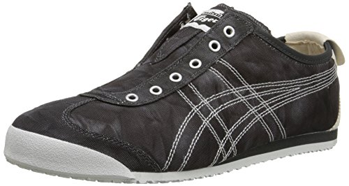 Onitsuka Tiger Women's Mexico 66 Slip-On Classic Running Shoe, Black/White, 10 M US