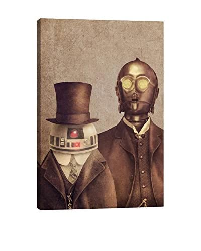 Terry Fan Duke R2 And Baron 3PO Portrait Gallery-Wrapped Canvas Print
