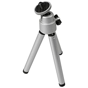 Foto Video Stativ Mini silber für Praktica Luxmedia 6105 Luxmedia 6403 Luxmedia 6503 Luxmedia 7105 Luxmedia 7203