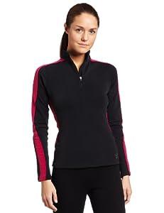 Buy Hot Chillys Ladies ME XT Fleece Panel Zip-Tee by Hot Chillys