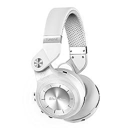Bluedio T2s Turbine Bluetooth Wireless Stereo Headphones with Microphone 57mm Drivers Rotary Folding(White)