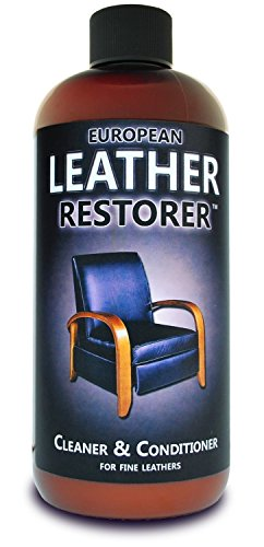 European Leather Restorer - The Best One Step Leather Conditioner and Cleaner for Furniture, Auto Interiors, Jackets, Purses, Boots, Sports Equipment, Saddles and Tack - 16 Ounce Bottle (Fine Leather Cleaner Conditioner compare prices)