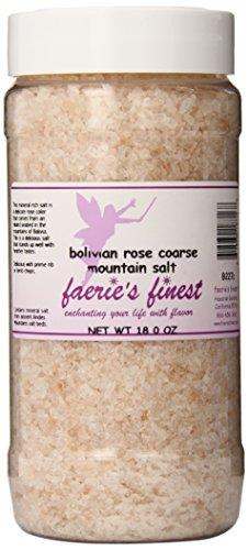 Faeries Finest Mountain Salt, Bolivian Rose, 18 Ounce