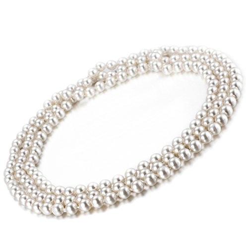 Flapper-Beads-Accessory-for-Costume-59-inch-Faux-Pearl-Necklace