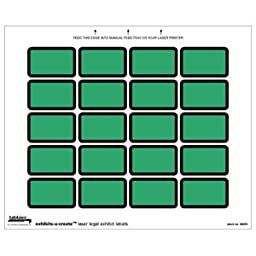 Tabbies U-Create Exhibit Labels, Green, 240 per package