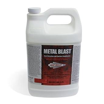 Rust Bullet Clear Liquid Metal Blast Rust Treatment and Rust Remover, One Gallon, Plastic Bottle